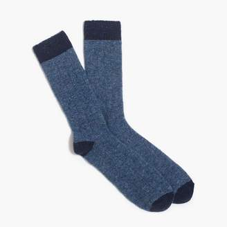 J.Crew Tipped Donegal wool socks