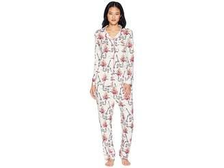 The Cat's Pajamas La Fleur Eiffel Pima Knit Pajama Set