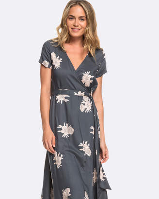 Roxy Womens District Day Short Sleeved Printed Maxi Dress