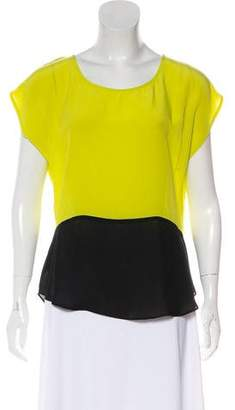 Myne Silk Short Sleeve Top