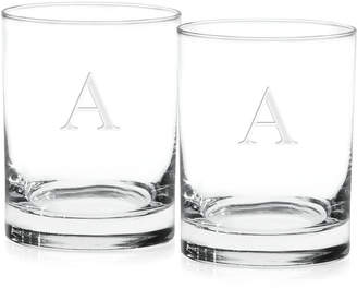 Culver Monogram Double Old Fashioned Glasses, Set of 2