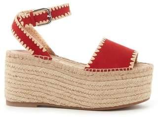 Pour La Victoire Ria Red Espadrille Wedge Sandal