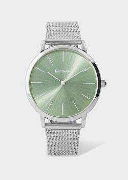 Paul Smith Special Edition 38mm Light Green And Stainless Steel 'Ma' Watch