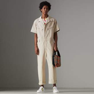 Burberry Short-sleeve Cotton Overalls