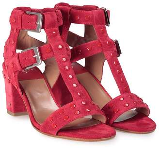 Laurence Dacade Helie Studded Suede T-strap Sandal