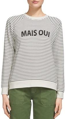 Whistles Mais Oui Stripe Sweatshirt $159 thestylecure.com