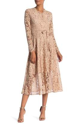 Tina Surplice Lace Waist Tie Dress