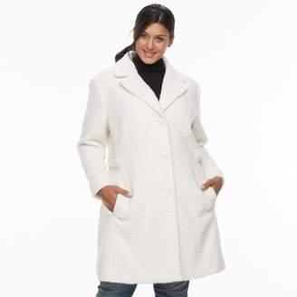 Gallery Plus Size Wool Blend Coat