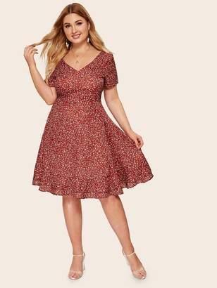 Shein Plus Ditsy Floral Dress