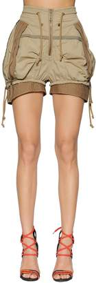 DSQUARED2 Stretch Cotton Twill Military Shorts