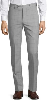 Calvin Klein Geometric-Print Wool Blend Pants