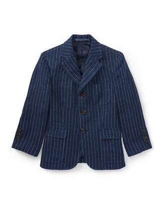 Ralph Lauren Linen Princeton Pinstripe Blazer, Size 2-3