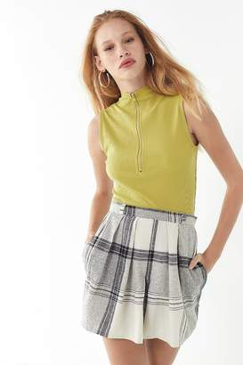 Urban Renewal Vintage Plaid Pleated Mini Skirt