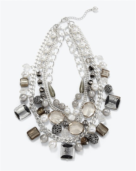 Multi-Row Ethnic Necklace
