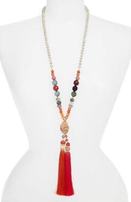 Nakamol Design Long Tassel Jasper Pendant Necklace