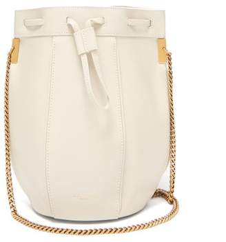 a1966d41ddde1 Saint Laurent Talitha Smooth Leather Bucket Bag - Womens - White