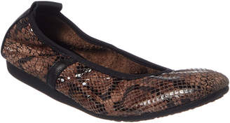 Arche Lamour Croc-Embossed Leather Flat