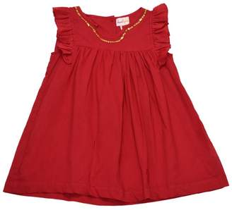 Cheeni Baby Gold-Sequin-Accented Red Dress