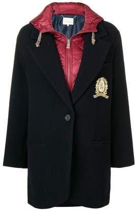 Tommy Hilfiger contrast single-breasted coat