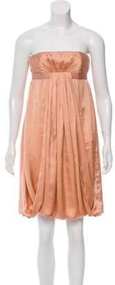 Tara Jarmon Strapless Silk Dress