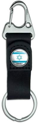Generic I Stand With Israel Pro Israeli Support Belt Clip On Carabiner Leather Keychain Fabric Key Ring
