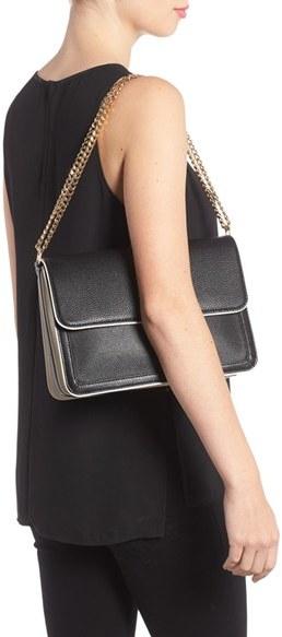 Tory Burch Large Duet Leather Shoulder Bag - Pink