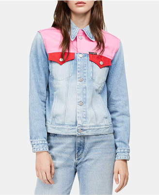 Calvin Klein Jeans Cotton Colorblocked Trucker Jacket