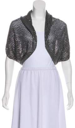 Alice + Olivia Embellished Knit Shrug