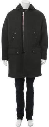 Neil Barrett Hooded Longline Coat
