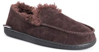 Muk Luks Faux Suede Faux Fur Lined Slip-On Moccasin