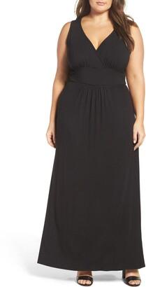 311cf667f1 Plus Size Surplice Maxi Dress - ShopStyle