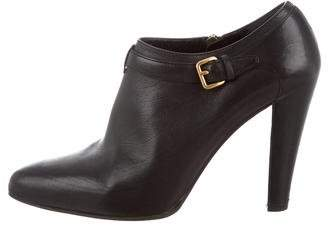 Miu Miu Pointed-Toe Buckle Booties