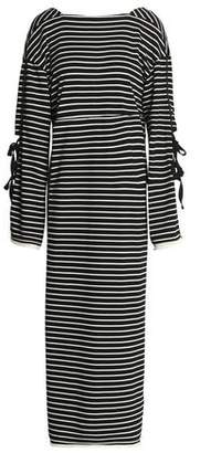 3.1 Phillip Lim Tie-Detailed Striped Cotton-Jersey Maxi Dress