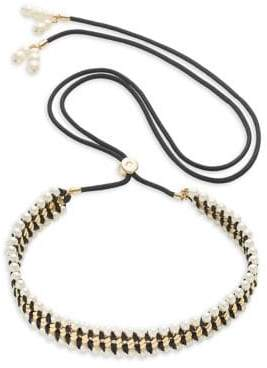 Kate Spade Wrap It Up Faux Pearl Collar Necklace