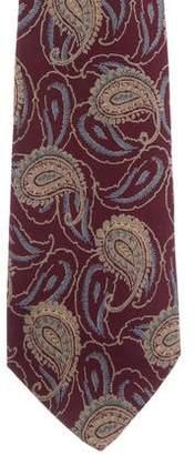 Valentino Paisley Print Silk Tie