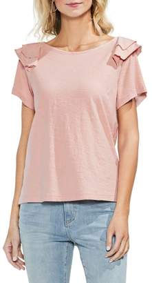 Vince Camuto Shoulder Ruffle Tee
