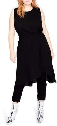 Rachel Roy Sleeveless Cascade Tunic Dress
