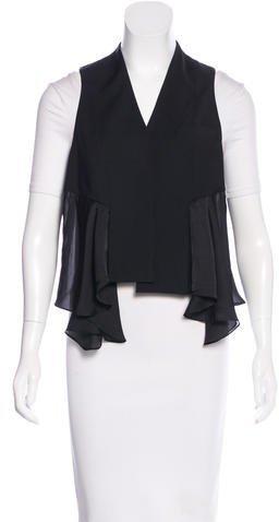 Alexander WangAlexander Wang Wool Asymmetrical Vest