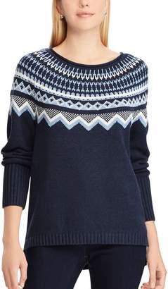 Chaps Women's Fairisle Crewneck Sweater