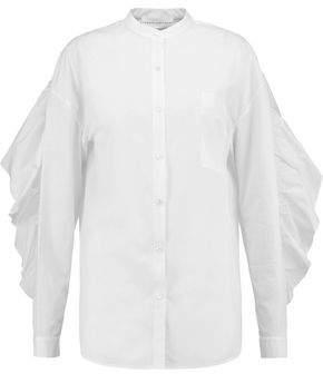 Robert Rodriguez Ruffled Cotton-Poplin Shirt