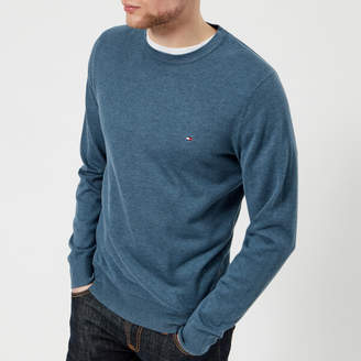Tommy Hilfiger Men's Cotton Silk Crew Neck Knitted Jumper