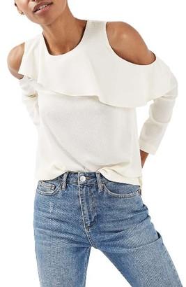 Women's Topshop Izzy Cold Shoulder Top $55 thestylecure.com