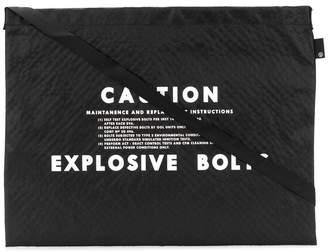 Undercover Caution shoulder bag