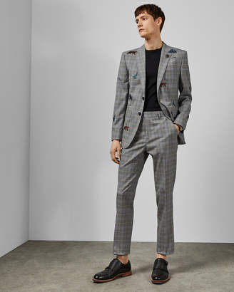 Ted Baker COMPAST Check safari wool trousers