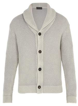 Iris Von Arnim - Galileo Waffle Knit Cashmere Cardigan - Mens - Light Grey