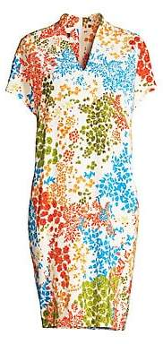 Escada Women's Dixanula Leaf Print Tunic Dress