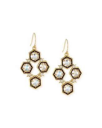Alexis Bittar Mosaic Crystal Drop Earrings, Clear $175 thestylecure.com