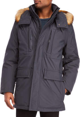 Andrew Marc Hausman Hooded Faux Fur Trim Parka