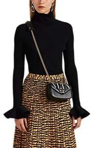 Valentino Women's Rib-Knit Bell-Sleeve Turtleneck Top - Black