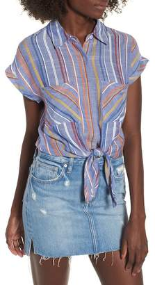 BP Stripe Tie Front Shirt